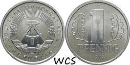 GDR 1 Pfennig 1979 A KM#8.2 Prooflike