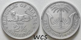 Biafra 2½ Shillings 1969 KM#4 VF