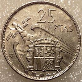 Spain 25 Pesetas 1957 KM#787