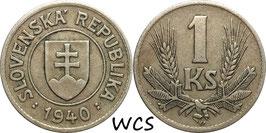 Slovakia 1 Koruna 1940 KM#6 VF