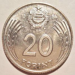 Hungary 20 Forint 1982-1989 KM#630
