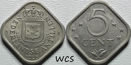 Netherlands Antilles 5 Cent 1971-1985 KM#13