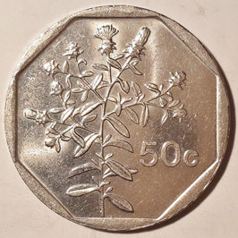 Malta 50 Cents 1991-2007 KM#98