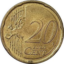 Lithuania 20 Cents 2015-2018 KM#209