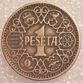 Spain 1 Peseta 1944 KM#767 VF