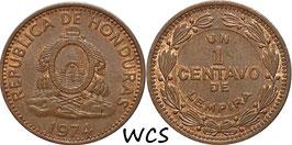 Honduras 1 Centavo 1974-1998 KM#77a