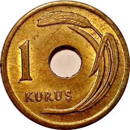 Turkey 1 Kurus 1951 KM#881 XF