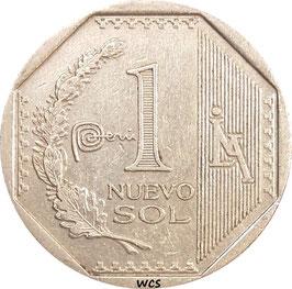 Peru 1 Nuevo Sol 2012-2015 KM#366