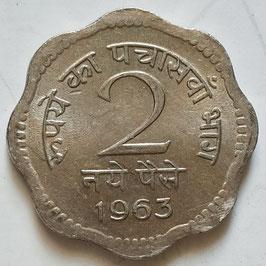 India 2 Naye Paise 1957-1963 KM#11
