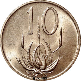 South Africa 10 Cents 1970-1989 KM#85