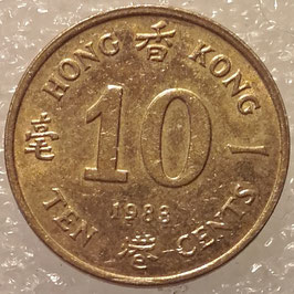 Hong Kong 10 Cents 1982-1984 KM#49