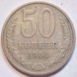 Soviet Union 50 Kopeks 1964-1991 Y#133a.2