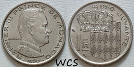 Monaco 1 Franc 1960 KM#140 VF