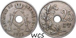 Belgium 25 Centimes 1913-1929 BELGIQUE KM#68.1