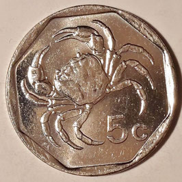 Malta 5 Cents 1991-2007 KM#95