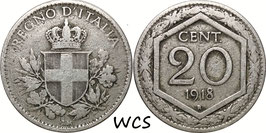 Italy 20 Centesimi 1918-1920 KM#58