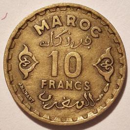 Morocco 10 Francs 1952 (1371) Y#49 VF