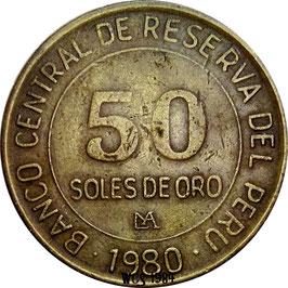 Peru 50 Soles 1980 KM#273 VF-