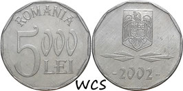 Romania 5000 Lei 2001-2006 KM#158