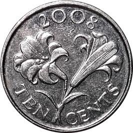 Bermuda 10 Cents 1999-2009 KM#109