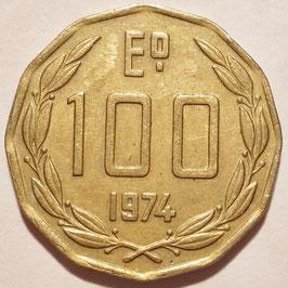 Chile 100 Escudos 1974 KM#202