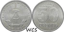 GDR 50 Pfennig 1982 KM#12.2 UNC