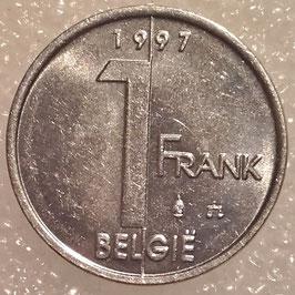 Belgium 1 Franc 1994-2001 BELGIE KM#188
