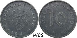 Germany - Third Reich 10 Reichspfennig 1940-1945 KM#101