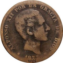 Spain 10 Centimos 1877-1879 KM#675