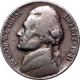USA Jefferson Nickel (5 Cents) 1938-1942 KM#192