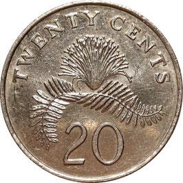 Singapore 20 Cents 1992-2012 KM#101