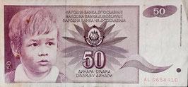 Yugoslavia 50 Dinara 01.06.1990 P.104