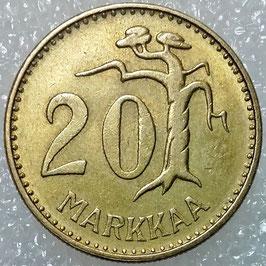 Finland 20 Markkaa 1952-1962 KM#39