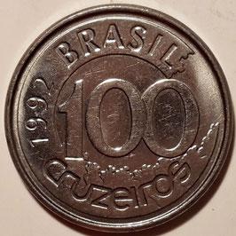 Brazil 100 Cruzeiros 1992-1993 KM#623