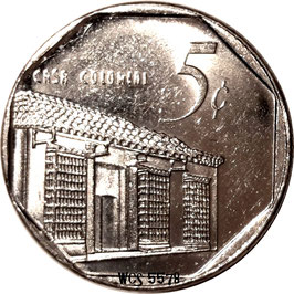 Cuba 5 Centavos 1996-Date (coin alignment) KM#575.2