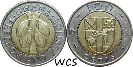 Ghana 100 Cedis 1991 KM#32 XF