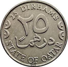Qatar 25 Dirhams 2000-2003 KM#8