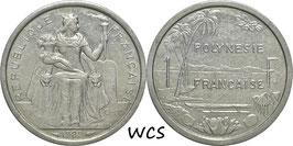 French Polynesia 1 Franc 1982 KM#11 XF