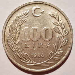 Turkey 100 Lira 1984-1988 KM#967
