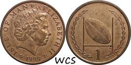 Isle of Man 1 Penny 1999 AB KM#823.2 XF