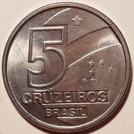 Brazil 5 Cruzeiros 1990 KM#618.1 UNC-