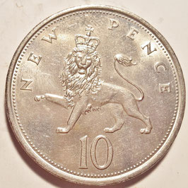 Great Britain 10 New Pence 1968-1981 KM#912