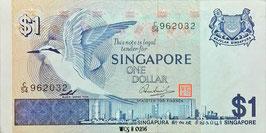 Singapore 1 Dollar 1976 P.9 XF