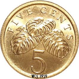 Singapore 5 Cents 1985-1991 KM#50