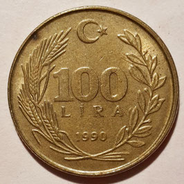 Turkey 100 Lira 1988-1996 KM#988