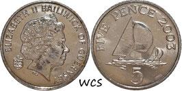 Guernsey 5 Pence 2003 KM#97 XF