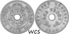 Southern Rhodesia 1 Penny 1942 KM#8 VF- (1)