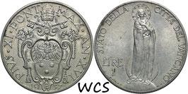 Vatican City 1 Lira 1937/XVI KM#5 XF-