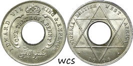 British West Africa 1/10 Penny 1908 KM#3 UNC-