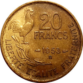 France 20 Francs 1950-1954 G.GUIRAUD Beaumont-le-Roger KM#917.2